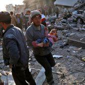 61 Tote Tote nach Luftangriffen
