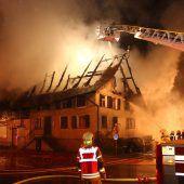 Wohnhaus abgebrannt