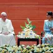 Papst pocht auf Menschenrechte