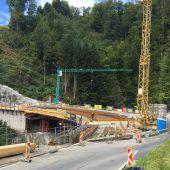 Hölltobelbrücke vor Fertigstellung