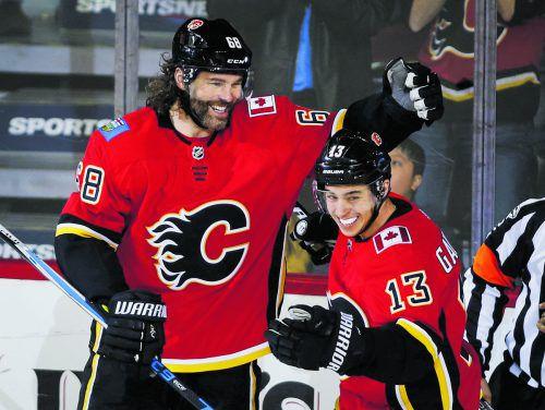Jaromir Jagr freut sich über Treffer Nummer 766 in der NHL.ap