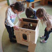Tierisches Experiment im Kindergarten