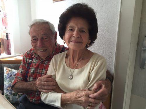 Nach 70 gemeinsamen Jahren können sich Ida und Johann Sinn ein Leben ohneeinander nicht mehr vorstellen.    VN/Kuster