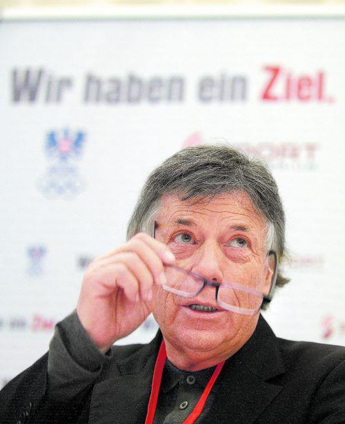 """Ski-Präsident Peter Schröcksnadel: """"Wir sind relativ sicher, dass wir nicht der Verband sind, als der wir da hingestellt werden.""""apa"""