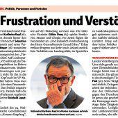 Frustration wegen Karlheinz Kopf