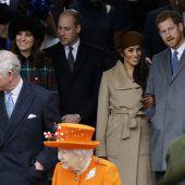 Meghan Markle absolviert Weihnachtsauftritt mit der Queen