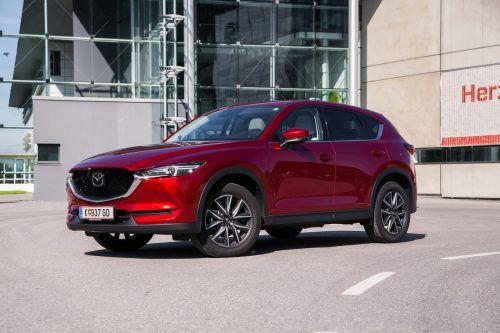 Der CX-5 ist mit 2700 Einheiten das meistverkaufte Modell von Mazda in Österreich.