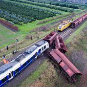 Personenzug war auf falschem Gleis