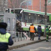 Wieder ein Busunfall in Moskau