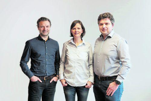 DI Walter Beer (Architekt), Laura Dragaschnig (Gesellschafterin) und Herbert Greber (Geschäftsführer).Foto: baukultur