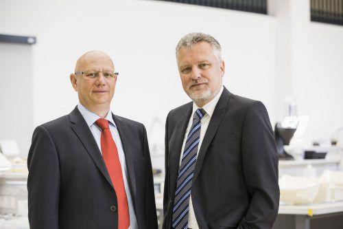Die Geschäftsführer Hannes Hämmerle (l.) und Wolfgang Humml. 1zu1/Todorovic