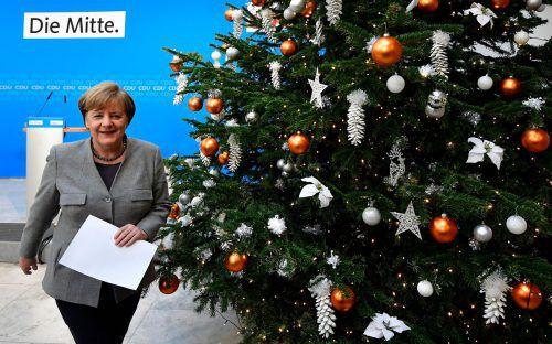 Die Sondierungsgespräche zwischen CDU-Chefin Angela Merkel und der SPD verlaufen zäh. Mittlerweile steht Weihnachten vor der Tür.afp