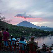 Vulkan auf Bali beruhigt sich