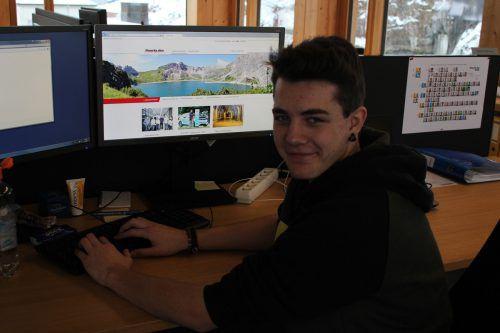 Dominic Loacker verbindet mit seiner Lehre zum IT-Techniker Job mit Passion. VN/Hp