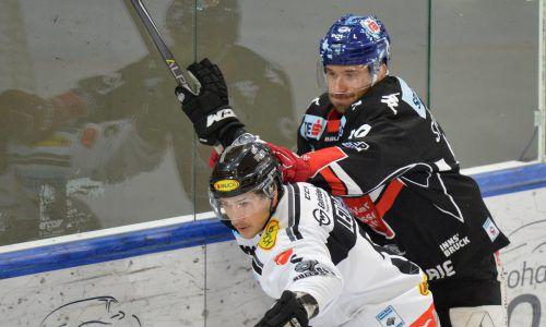 Dornbirns Jérôme Leduc setzte sich mit seinem Team dank einer starken Schlussphase knapp in Innsbruck durch.gepa