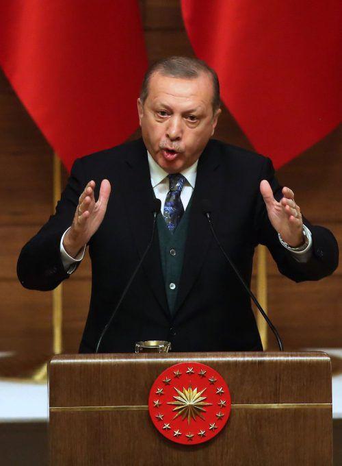 Der türkische Staatschef empört sich über die USA. AFP
