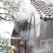 Feuer zerstört Stadel