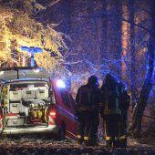 Drei Tote bei Absturz eines Business-Jets in der Nähe von Ravensburg. B1