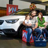 Großes VN-Gewinnspiel: Wolfurter Familie fährt nun auf Opel Crossland X ab. A8