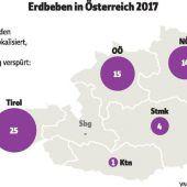 Es bebte 1320 Mal in Österreich