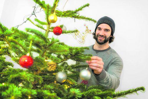 Für Scott Timmins gehört ein geschmückter Weihnachtsbaum zum Fest dazu.stiplovsek