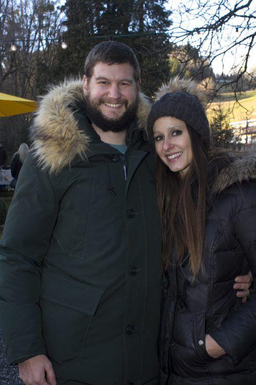 Geschäftsführer Martin Zambanini (ÖAB) und Alexandra.