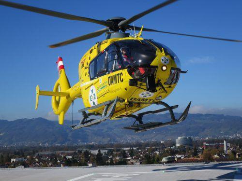 Im Oktober landete erstmals ein Heli auf dem Spitalsdach. Es war der bisher einzige Landeanflug. HA