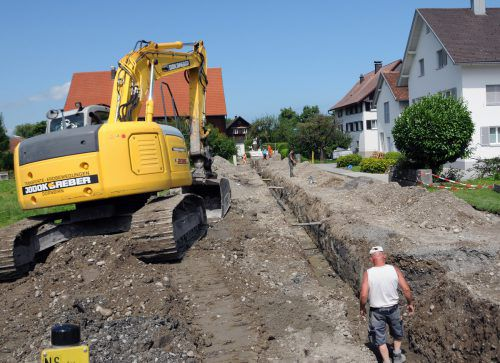 In Fußach ist der Ausbau des Wasserleitungsnetzes und des Kanals geplant. ajk