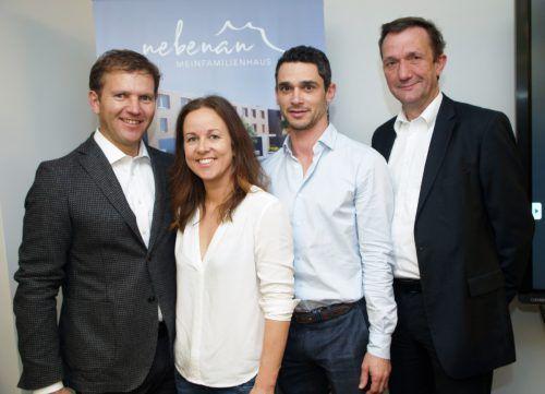 Joe Welte (Inside96) mit Nicole, Christian Kofler und Markus Müller (47°).