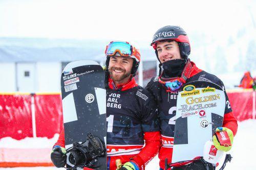 Markus Schairer (l.) und Alessandro Hämmerle wollen sich auch in Cervinia beweisen.Steurer