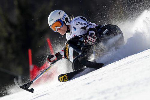 Monoskifahrerin Heike Eder wird die Farben Vorarlbergs bei den Winter-Paralympics in Pyeongchang vertreten.gepa