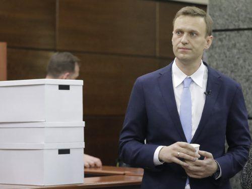 Nawalny darf bei der Präsidentschaftswahl 2018 nicht kandidieren. AP