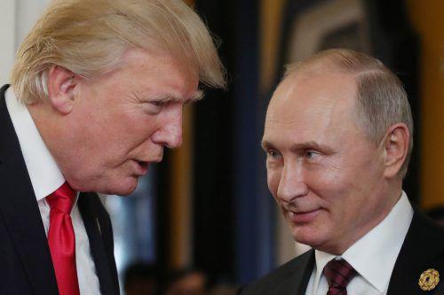 Ob Donald Trump und Wladimir Putin nach der Trump-Rede noch zusammenarbeiten werden, ist fraglich. afp