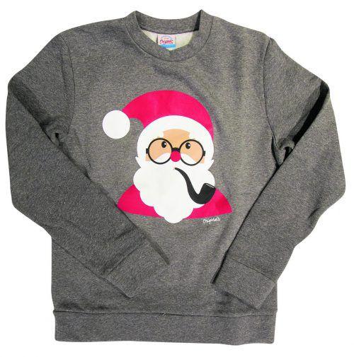 Santa             Weihnachtspullover für Herren. Gesehen bei Jack und Jones um 24,99 Euro.