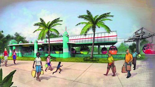 So sieht das neue Drehkreuz in der Disneyworld in Orlando aus. Produziert wird es bei Doppelmayr.Disney
