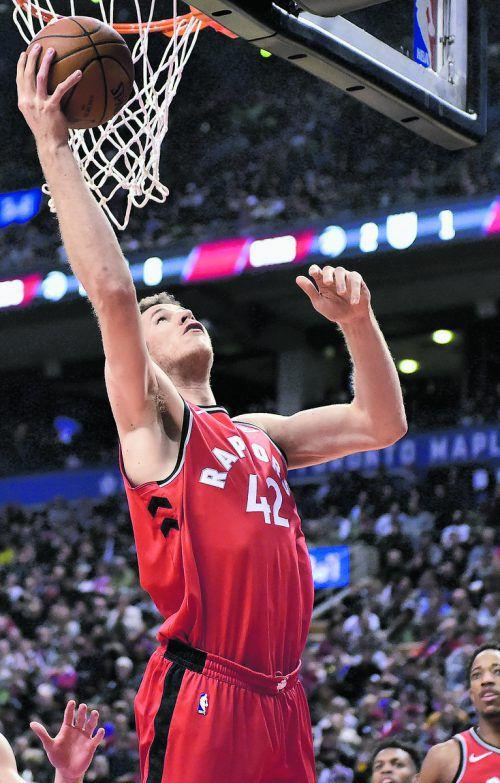 Stark vor dem Korb: der österreichische NBA-Export Jakob Pöltl.ap