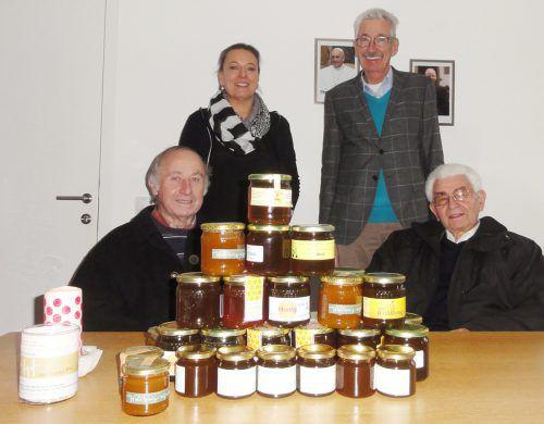 Stattlich fiel die Honigspende des Imkervereins aus. the