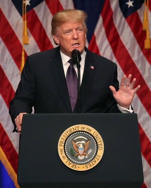 Trump bezeichnete das Projekt als historisch. AFP