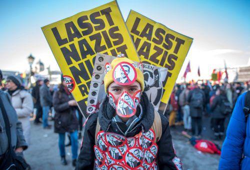Über 5000 Menschen gingen in Wien gegen Schwarz-Blau auf die Straße.AFP