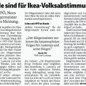 Volksabstimmung(en) in Lustenau