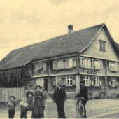 Einst und Jetzt. Traditionsgasthaus Krone im Feldkircher Stadtteil Gisingen