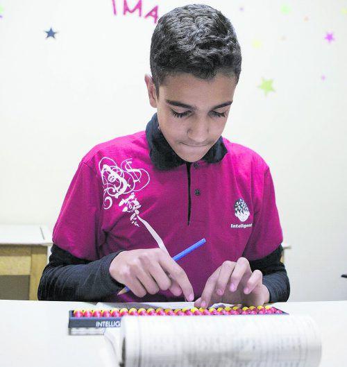 Abdel Rahman Hussein löste 320 komplizierte Aufgaben in nur acht Minuten.
