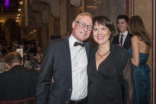 AK-Direktor Rainer Keckeis mit Bürgermeistergattin Sabine Berchtold.