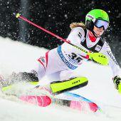 Katharina Liensberger im Zagreb-Slalom Achte, Sieg an Mikaela Shiffrin. C3