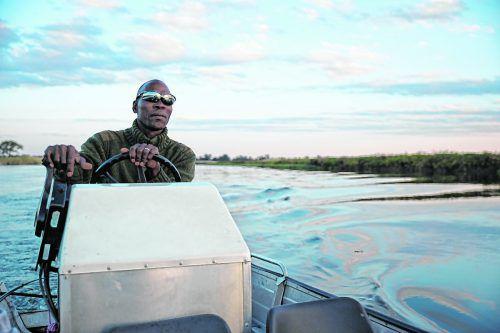 Bei einer Fahrt auf dem Okavango kann man Krokodile, Vögel und Nilpferde entdecken.