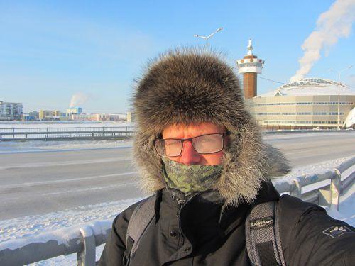 Bei minus 46°C gefriert auch der Atem.