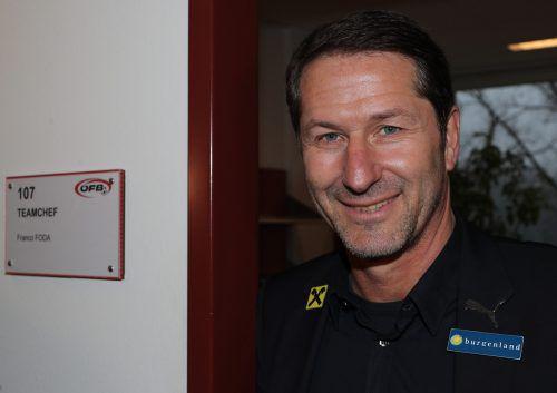 Das Zimmer mit der Nummer 107 im Ernst-Happel-Stadion ist nunmehr der neue Arbeitsplatz von ÖFB-Teamchef Franco Foda (51).gepa