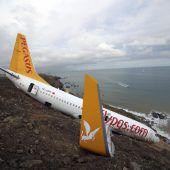 Flugzeugrutsch wegen Turbinenfehler