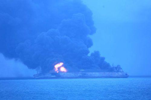 Der iranische Tanker hatte 136.000 Tonnen Öl an Bord. AP