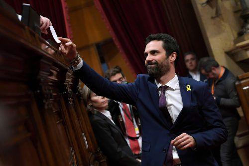 Der Unabhängigkeitsbefürworter Roger Torrent wurde zum Präsidenten des katalanischen Regionalparlaments gewählt. afp